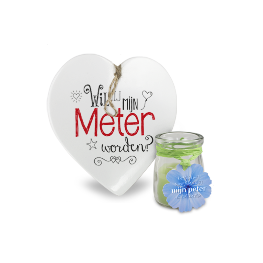 Peter en Meter hartje voor jou love light candle cadeau groothandel miko