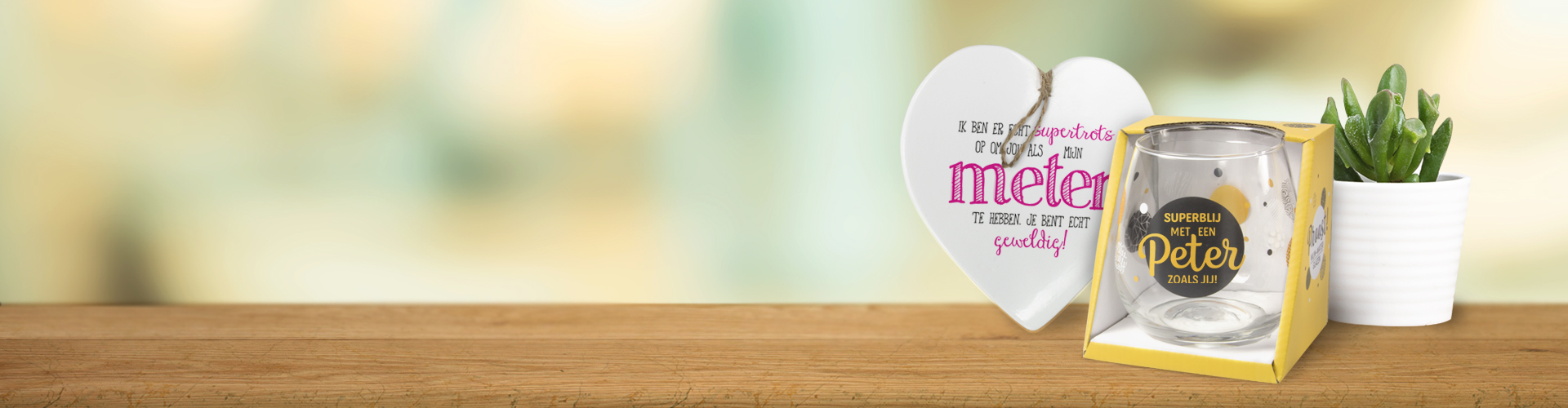 Peter-Meter event Miko cadeau groothandel wijnglas hartje voor jou